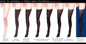 HOW TO SHADING THE THIGH HIGH STOCKINGS by Sword-Waltz