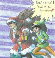 Gai and Lee Christmas by uchiha-avenger