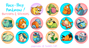 Roly-Poly Pokemon (Avail. on Storenvy) by papricots