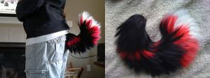 Red and Black Yarn Tail *Sold* by Iceshadow86