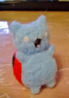 Needle Felted Catbug by superpsyduck