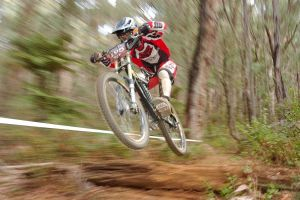 Downhill bike racer by litecreations