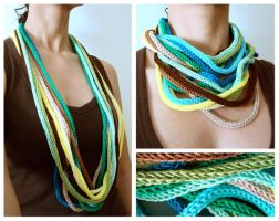 tropical sea necklace by rosachicolate