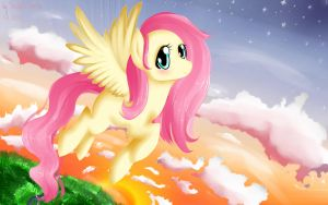 Fluttershy x3 by VardasTouch
