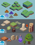 Isometric Map Attempts by LiLaiRa