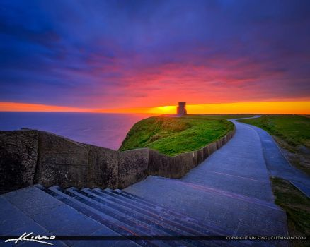 O'Brien's-Tower-Cliffs-of-Moher-Ireland-Sunset by CaptainKimo