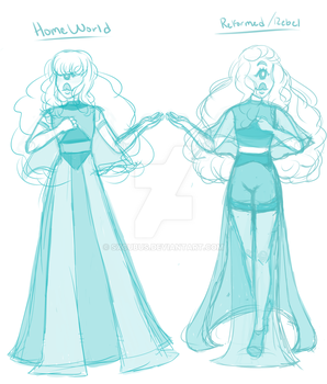 Sapphy Ref sketch by nbwitch