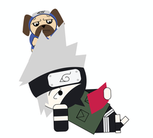 Vector Kakashi and Pakkun by ericdbz