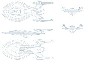 Star Trek USS Travis by AdamKop