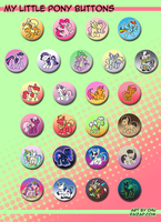My Little Pony Buttons by raizy