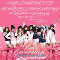 Girls generation in the new world tour Font by StillPhantom