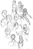 Sketchbook Page - Aang by ex-m