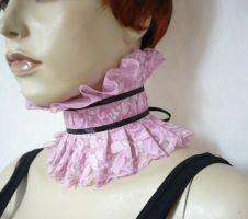 Pink lace neck ruff by Estylissimo