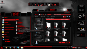 Red Theme Ultra Dark Theme Windows 7 by ToxicoSM