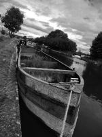 black and white dead boat by hazellucy