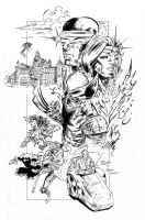 X-men - StClaire - Travinapple - inked by Travinapple