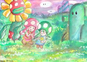 toadette and friends by Hyaene