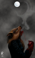 Moon yearning lycanthrope by HawkTheSlayer