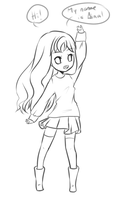 Aina - Chibi Sketch commission by eushi