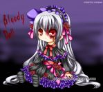 Bloody Goth Loli Doll by sonnyaws