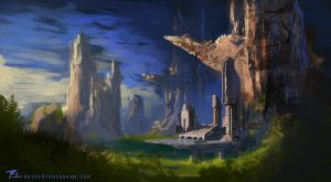 Environment Design Distant base by timegate