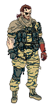 Punished Snake Pixel Art by Akatsuya