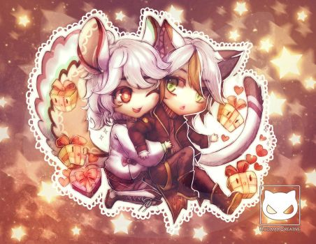 Valentines Special Commission: Tanu x Chinchi by Yaoi-World