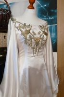 Elven wedding gown with embroidery. by Eisfluegel
