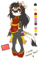 Yein the Marbled Polecat + Bio by CrisisDragonfly
