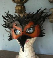 Firebird, leather mask by faerywhere