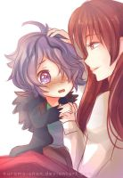 -- Child Garry and Adult Ib -- by Kurama-chan