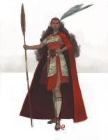 Elves of the Southern Chains - Warrior Sketch by Changinghand