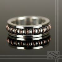 Steampunk Ball Bearing Ring by mooredesign13