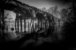 Old Bridge At Nagambie Vic by djzontheball