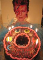 David Bowie Birthday Cake by ThreeRingCinema