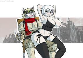 Sisters of Battle Lapdance by Sexual-Yeti