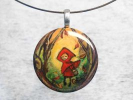 Little Red Riding Hood Pendant by sobeyondthis