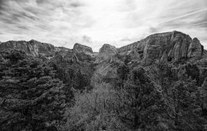 Wide Angle of Kolob BW by mjohanson