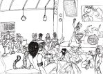 Clubbing uncolored by Golden-Dragon-Girl