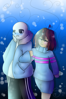 .: Sans X Frisk :. by SweetZoey