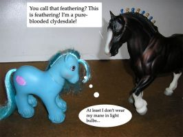 Breyer vs. MLP - Purebred by Marbletoast