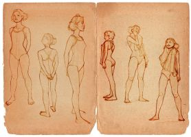 Bathing Suit Studies by MicahJGunnell