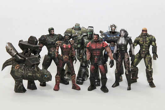 Unreal Tournament '99 Characters Papercraft by Metalfist0