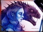 Dany and Drogon by AlcoholicRattleSnake