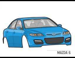 Mazda 6 - Technique practise. by musilowski