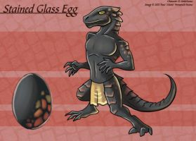 Stained Glass Egg - Adoptable by Ulario