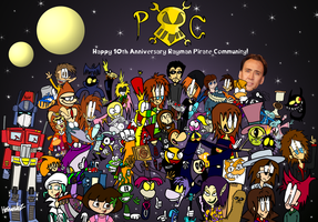 Happy 10th Anniversary, Rayman Pirate Community! by Bradandez