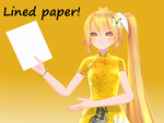 Notepaper for MMD [DL] by triangleboxstudio