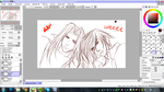 Sephiroth and Genesis WIP by chinensisXIII