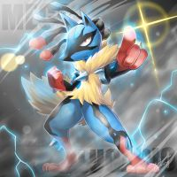 Mega Lucario by R-nowong